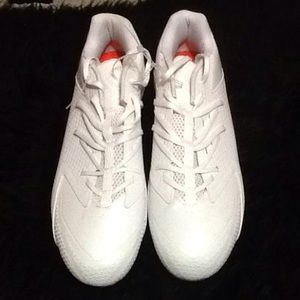 Men's White Adidas Football cleats